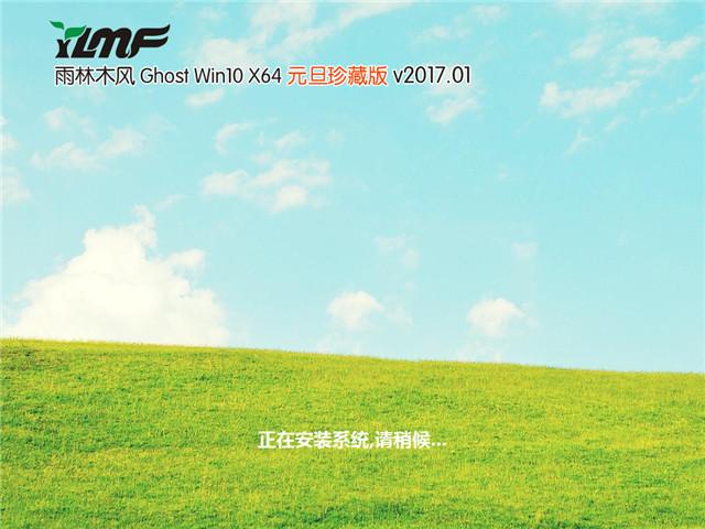 雨林木风 Ghost Win10 x64 元旦珍藏版 V2017.01