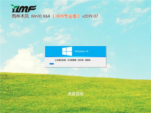 雨林木风 Win10 x64(1809专业版)v2019.07