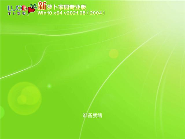 萝卜家园 Win10 64位专业版(2004) v2021.08